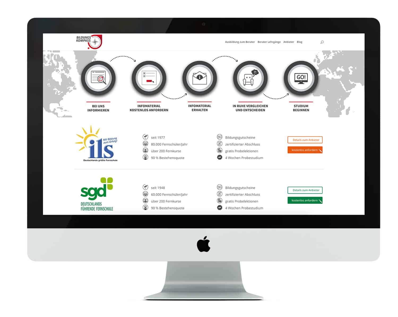 Bildungskompass Desktop Ansicht