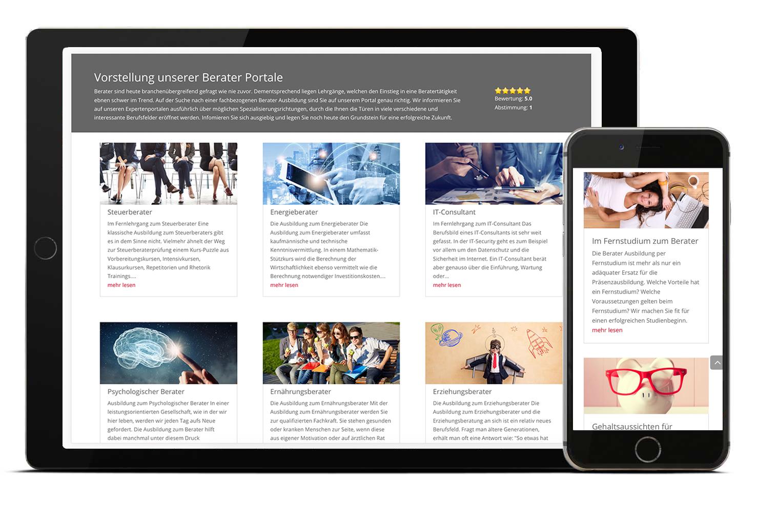 Screenshot Portal ausbildung-berater.de